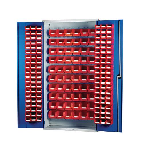 Louvred Panel Cabinet Cw 120xTc2 Red And 60xTc3 Red