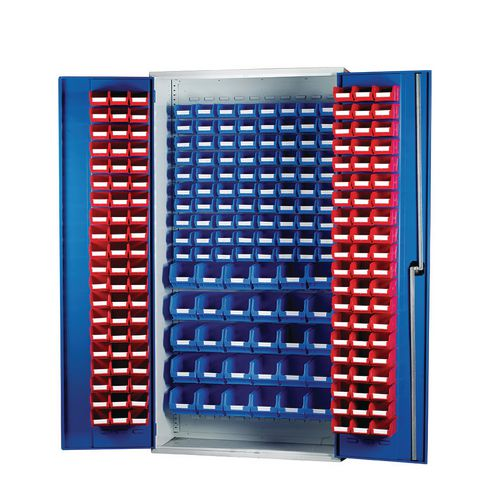 Louvred Panel Cabinet Cw 120xTc1 Red 80xTc2 Blue And 30xTc3 Blue