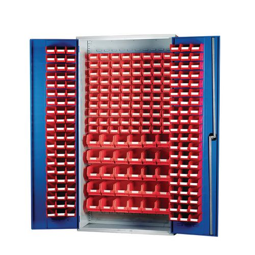 Louvred Panel Cabinet Cw 120xTc1 Red 80xTc2 Red And 30xTc3 Red