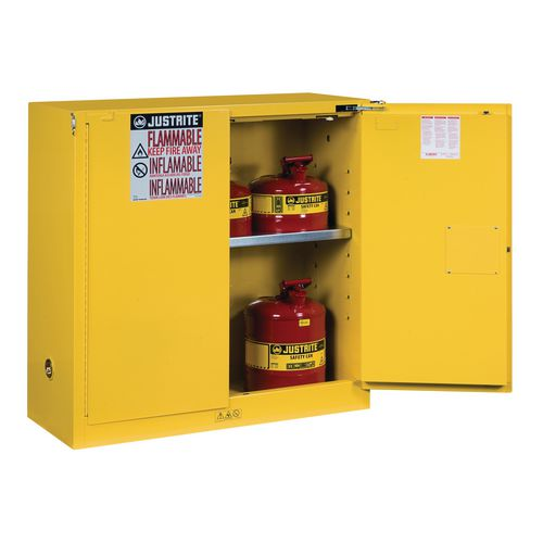 Sure-Grip Ex Slimline Safety Cabinet 114L Cap. 2 Self Closing Doors. 2 Shelves. 2 Dual Air Vents