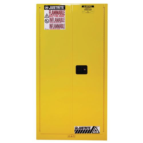 Sure-Grip Ex Slimline Safety Cabinet 227L Cap. 2 Self Closing Doors. 2 Shelves. 2 Dual Air Vents