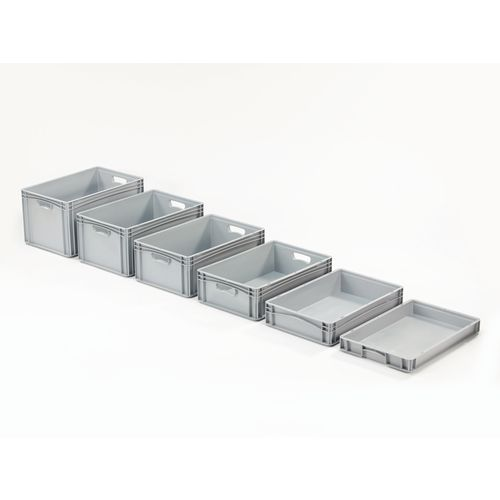 Basicline 400X300X320mm Solid Sides And Base With Hand Holes