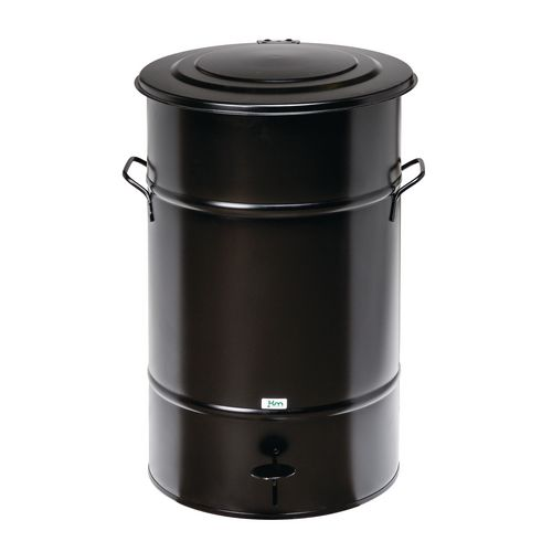 Waste Bin Black 630 X 415 X 415mm With Foot Pedal For Easy Opening