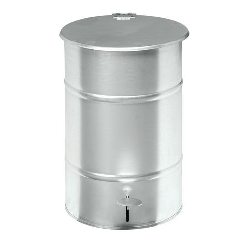 Waste Bin Galvanized 475 X 360 X 360mm With Foot Pedal For Easy Opening