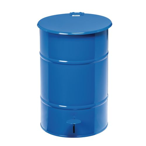 Waste Bin Blue 475 X 360 X 360mm With Foot Pedal For Easy Opening