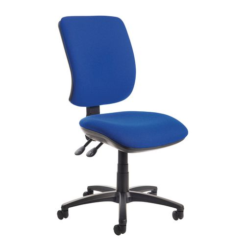 Senza High Back Operator Chair In Cobalt Gas Lift Adjustment Back Rake Tilt Adjustment Independent Seat Tilt Adjustm