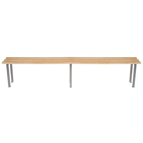 Classic Mezzo Bench 2000x325mm 3 Legs Silver