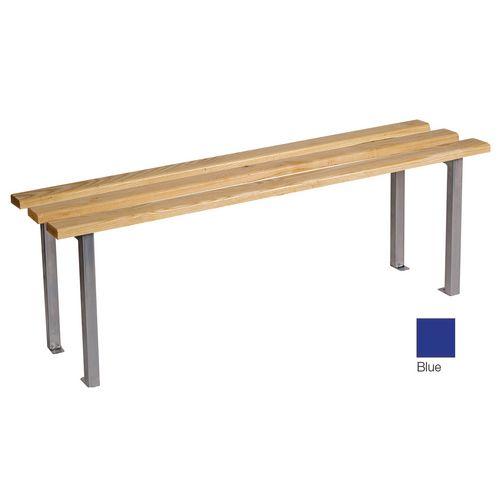 Classic Mezzo Bench 1500x325mm 3 Legs Blue