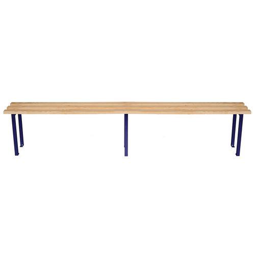 Classic Mezzo Bench 2000x325mm 3 Legs Blue