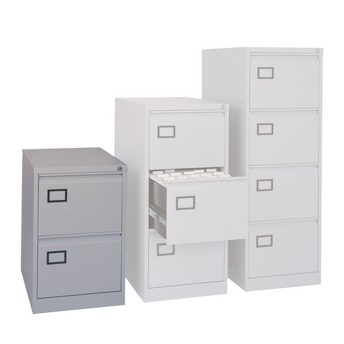 2 Drawer Filing Cabinet Grey