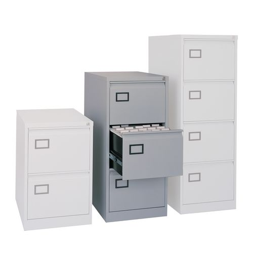 3 Drawer Filing Cabinet Grey