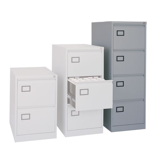 4 Drawer Filing Cabinet Grey