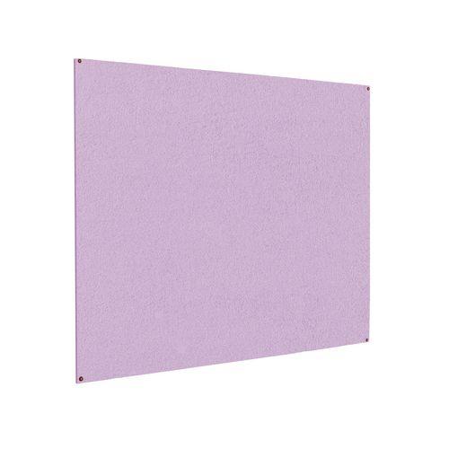 Frameless Colourplus Fabric Noticeboards 900x600mm (Hxw) Lilac