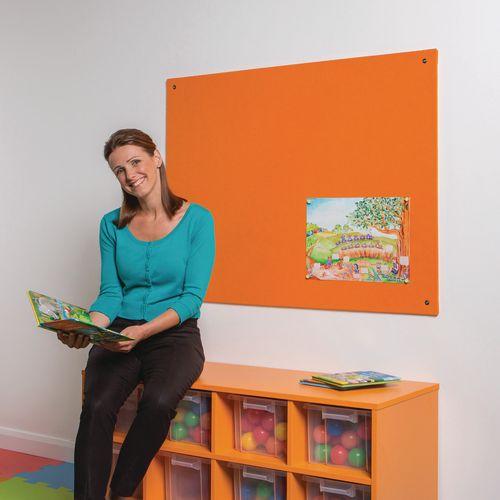 Frameless Colourplus Fabric Noticeboards 900x600mm (Hxw) Orange
