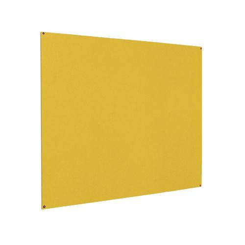 Frameless Colourplus Fabric Noticeboards 900x600mm (Hxw) Yellow