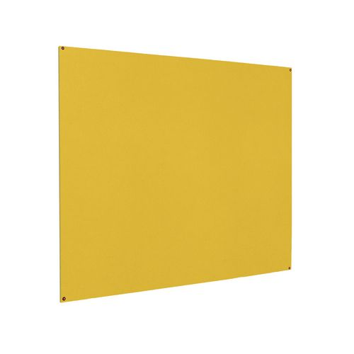 Frameless Colourplus Fabric Noticeboards 900x1200mm (Hxw) Yellow