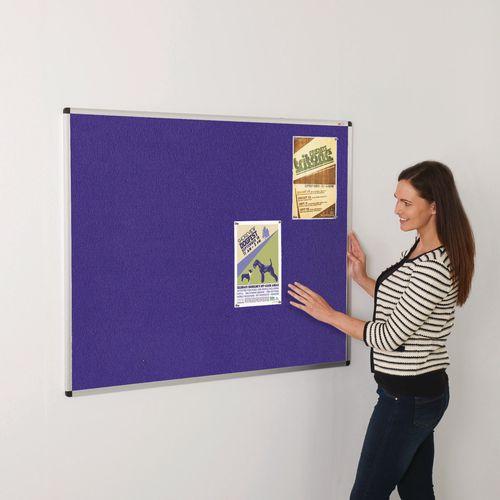 Colourplus Fabric Noticeboards 900x600mm (Hxw) Purple