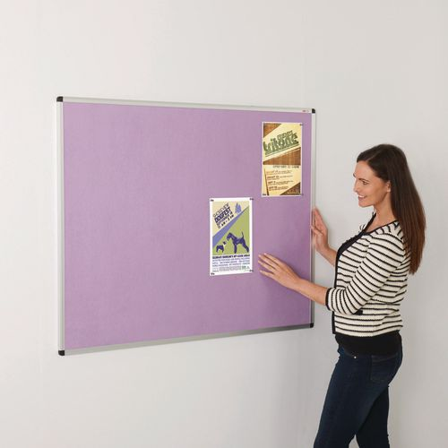 Colourplus Fabric Noticeboards 900x600mm (Hxw) Lilac