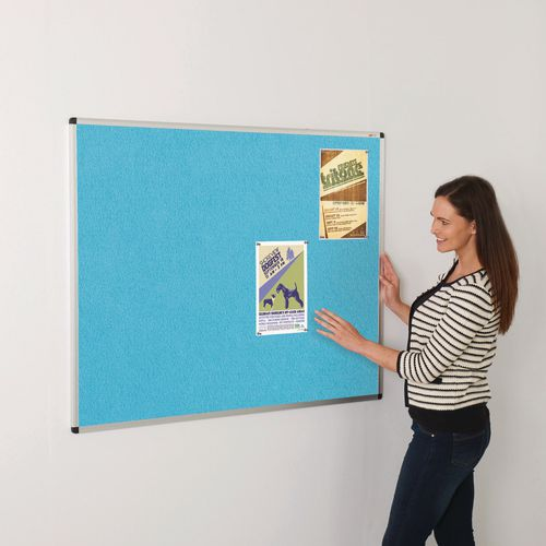 Colourplus Fabric Noticeboards 900x600mm (Hxw) Cyan
