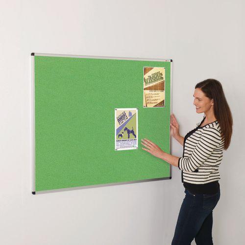 Colourplus Fabric Noticeboards 900x600mm (Hxw) Apple Green