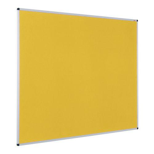 Colourplus Fabric Noticeboards 900x600mm (Hxw) Yellow