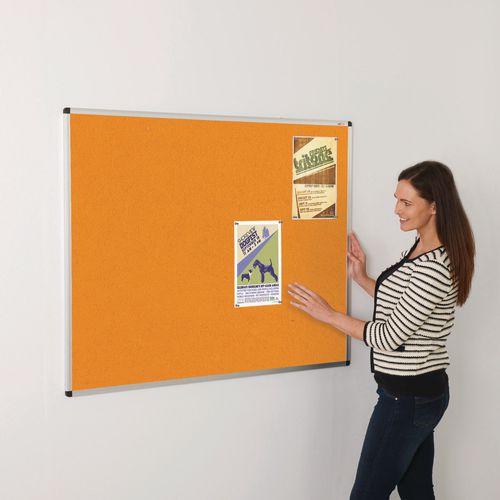 Colourplus Fabric Noticeboards 900x1200mm (Hxw) Orange