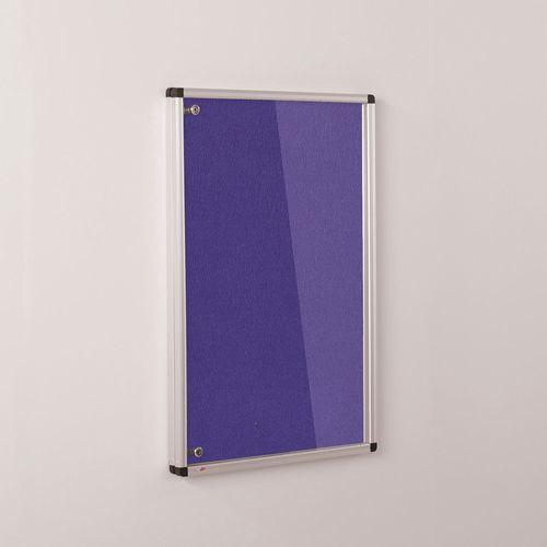 Colourplus Fabric Tamperproof Noticeboards 900x600mm (Hxw) Purple