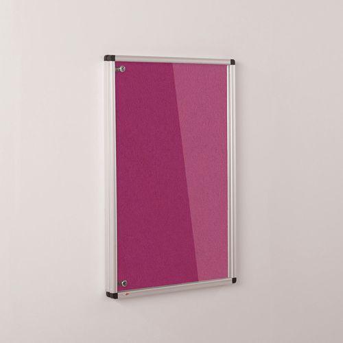Colourplus Fabric Tamperproof Noticeboards 900x600mm (Hxw) Magenta