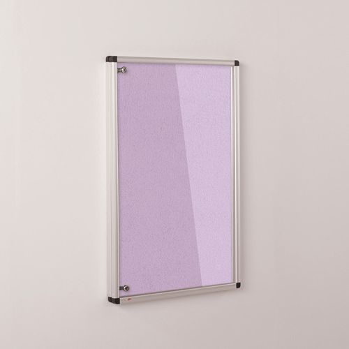 Colourplus Fabric Tamperproof Noticeboards 900x600mm (Hxw) Lilac