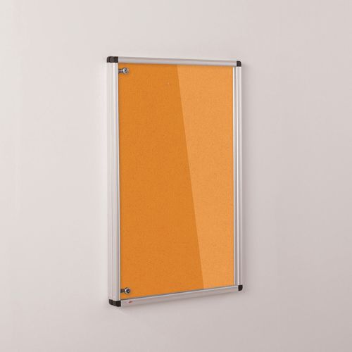Colourplus Fabric Tamperproof Noticeboards 900x600mm (Hxw) Orange
