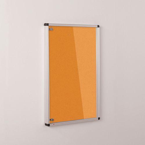 Colourplus Fabric Tamperproof Noticeboards 900x900mm (Hxw) Orange