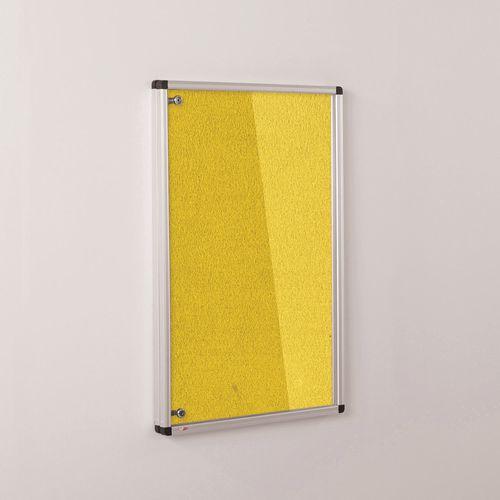 Colourplus Fabric Tamperproof Noticeboards 900x900mm (Hxw) Yellow