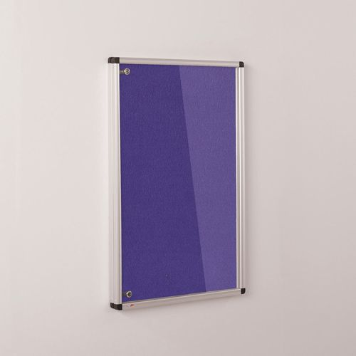 Colourplus Fabric Tamperproof Noticeboards 900x1200mm (Hxw) Purple