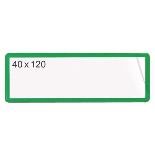 Magnetic Ticket Pouch 40X120 Pk 100 Green