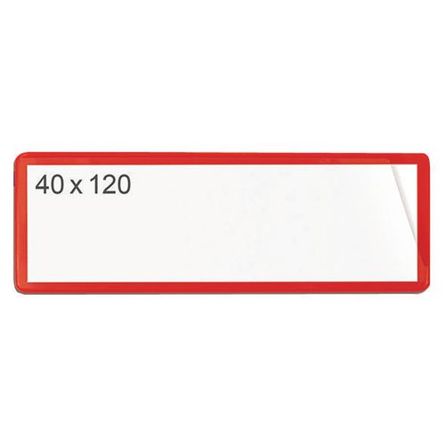 Magnetic Ticket Pouch 40X120 Pk 100 Red