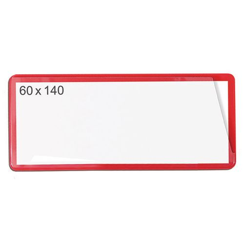 Magnetic Ticket Pouch 60X140 Pk 100 Red