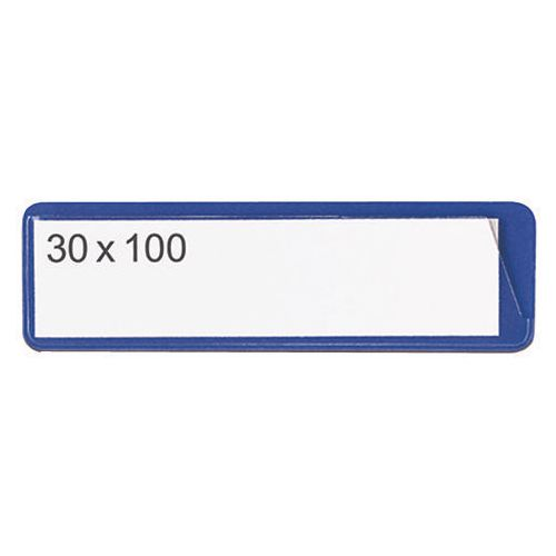 Self-Adhesive Ticket Pouch 30X100 Pk 100  Blue