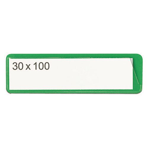 Self-Adhesive Ticket Pouch 30X100 Pk 100  Green