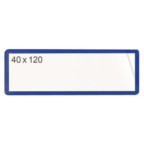 Self-Adhesive Ticket Pouch 40X120 Pk 100  Blue