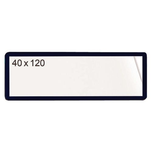 Self-Adhesive Ticket Pouch 40X120 Pk 100  Black