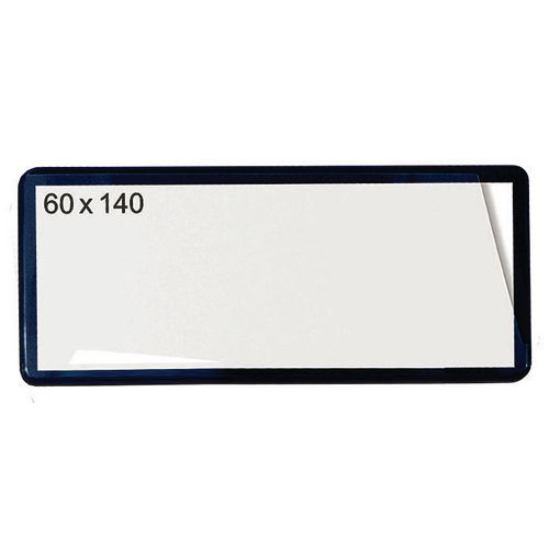 Self-Adhesive Ticket Pouch 60X140 Pk 100  Black