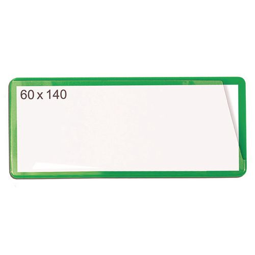 Self-Adhesive Ticket Pouch 60X140 Pk 100  Green
