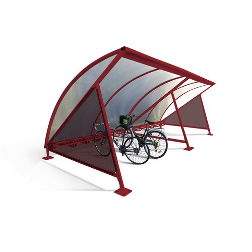 Moonshape Cycle Shelter Purple Red Ral3004