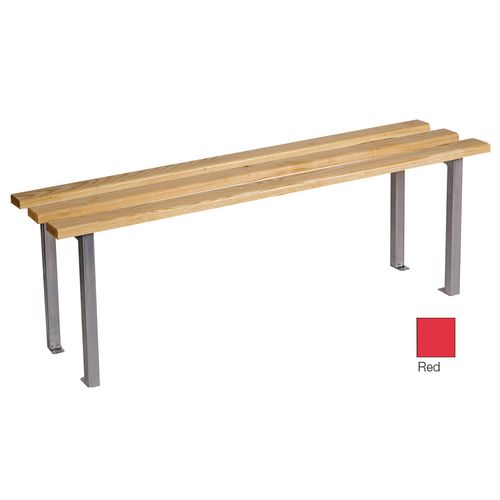 Classic Mezzo Bench 1500x325mm 3 Legs Red