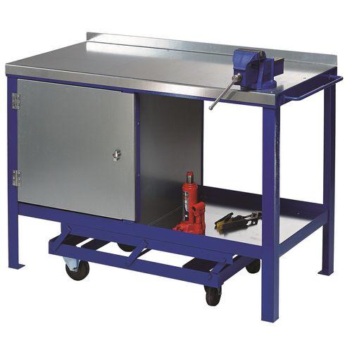 Heavy Duty Mobile Workbench 1200x750 With Cupboard
