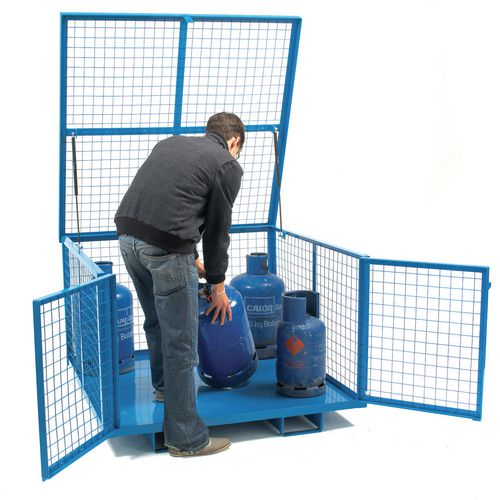 Mesh Security Cage With Hinged Lift Up Lid &Steel Base HxWxD mm: 830x1260x1260