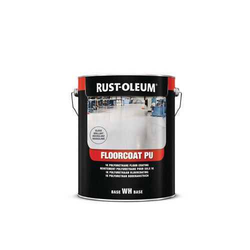 Floorcoat Pu Polyurethane Floor Paint White Gloss 5L