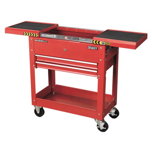 Tool &Parts Trolley 100Kg Red  Sliding Top