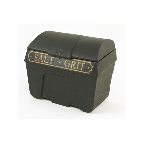 400 Litre Black Grit Bin With Hasp And Staple