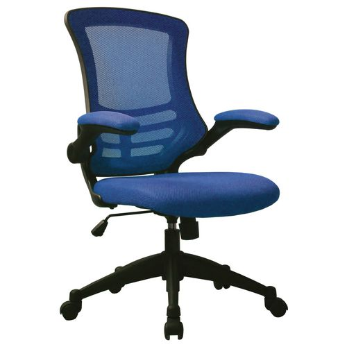 Blue Luna Mesh Chair With Foldaway Arms